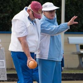 Dennis Wormald blind lawn bowls champion